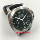 44mm Seagull power reserve brushed case bezel automatic date mens watch military