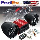 Motorcycle Moped Speaker Music Stereo Sound System w Remote Control Universal