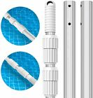 12 FT Thicken 13mm Aluminum Telescoping Swimming Pool Pole Adjustable 3 Section