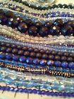 15 Pounds of BLUE Czech Fired Polished and Pressed Beads Assortment
