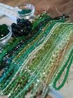 15 Pounds of Assorted GREEN Czech Glass Beads for Jewelry and Crafts