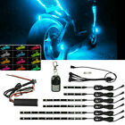 For Bajaj Benelli BETA 6X RGB LED Motorcycles Under Glow Lights Strips Universal