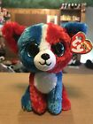 """Ty VALOR -Red/White/Blue Patriotic Chihuahua 6"""" Beanie Boo! *Retired Exclusive*"""