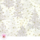 Moda Forest Frost Glitter 33520 12mg White Gold Metallic Trees Snow Quilt Fabric