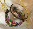 Kitras Art Glass Made in Canada Hanging Vase Retired New in Box with Tag