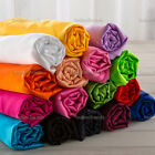 Heavy Satin Fabric 44 Wide Bridal Pillow Decor Material Sewing Craft Plain Robe