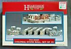 1999 Lemax Village Collection  Poly-Resin Colonial Stone Wall Set Of 10 # 93304