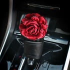 Luxury 3d Rose Faux Leather Universal Car Accessories Bling Rhinestone Decor