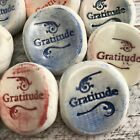 10+ Gratitude Worry Stones Inspirational word on HANDMADE Ceramic rock