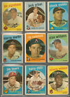 1959 Topps Baseball Lot 1 of 81 Cards, Poor to Vg