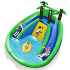 Inflatable Water Park Pool Bounce House Dual Slide Climbing Wall Without Blower