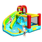 Inflatable Kids Water Slide Jumper Bounce House Splash Water Pool Without Blower