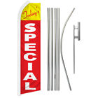 Todays Special Swooper Flutter Feather Advertising Flag Kit Todays Deal Sale