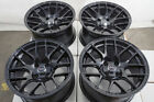 15x8 Wheels Corolla Mini Cooper Honda Civic Accord Miata Spark Black Rim 4 Lug