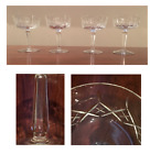 VINTAGE Cut Crystal Champagne Tall Sherbet Set of 4
