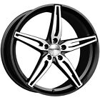 4 Sothis SC108 20x9 5x45 +38mm Black Machined Wheels Rims 20 Inch