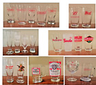 VINTAGE Beer Glasses BUDWEISER Pilsners Goblets Pints SEE SELECTIONS