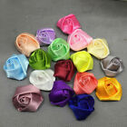 2 Rose Satin Ribbon Flower Lot Sewing Appliques for Craft Supplies Wholesale