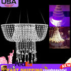 Crystal Acrylic Romantic Wedding Chandelier Garland Suspended Cake Swing Stand
