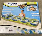 Aqua Inflatable Contour Cooling Water Lounge Swimming Pool Float Drifter New