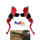 7 8 Motorcycle Master Cylinder Reservoir Hydraulic Brake Clutch Lever Aluminum