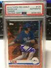 2019 Topps Pro Debut GAVIN LUX Orange Parallel PSA DNA Auto 02 25 Dodgers #135