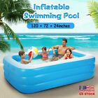 120x72 Family Swimming Pool Garden Summer Inflatable Kids Adults Paddling Pool