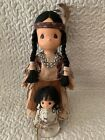 PRECIOUS MOMENTS NATIVE AMERICAN MORNING STAR INDIAN WITH PAPOOSE