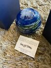 Glass Eye Studio Glass Earth Paperweight 35 Box Included