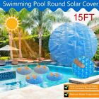 Round Above Ground Swimming Pool Cover Solar Protector Blanket Film Dustproof US