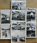 Vintage 1950s Cute Pretty Girl Woman W Cars 8 Old Snapshot Photos Photographs