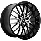 4 Konig 16MB Lace 16x7 4x100 4x108 +40mm Black Machined Wheels Rims 16 Inch