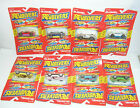 1989 LIONEL REVOLVERS FLIP OVER DIE CAST CAR LOT OF 8 CARS ALL PACKAGED MOC New