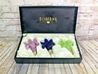 vtgBombay Murano Glass Floral Bottle Stoppers Set of 3 Wine Stoppers W Box Cork