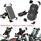 Motorcycle Moped Motorbike ATV Scooter USB Charger Cell Phone Holder GPS Mount