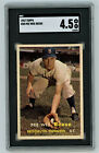 1957 Topps # 30 Pee Wee Reese SGC 4.5 VG EX+ No Creases Dodgers HOF Centered
