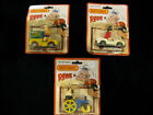 Lot Of 3 Vintage 1980 On Cards Lesney Matchbox Cars Popeye Olive Oyl Bluto