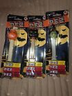 (3) 2009 HALLOWEEN PEZ DISPENSERS Witch, Blk Cat, Pumpkin NIP
