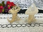 Set of 2 Murano Gold Jack in the Pulpit Cornucopia Art Glass Figures 5