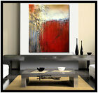 ABSTRACT MODERN CANVAS PAINTING WALL ART Large Framed Signed US ELOISExxx