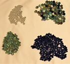 Huge Lot of Glass Marbles Regular  Mini 300+ pieces Multicolored Cats Eye Blue