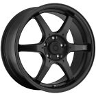 4 Konig 30B Backbone 17x75 4x100 +45mm Matte Black Wheels Rims 17 Inch