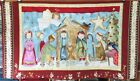 Christmas Childrens Nativity Scene Printed Fabric Panel Completed Ex Sample