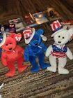 TY Beanie Babies - SAM the Bears (Set of 3 - Red, White & Blue) - Mint Tags