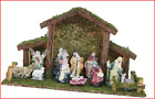 Toyland Traditional Christmas Nativity Scene Stable With 12 Nativity Figures