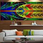 Designart Colorful Stained Glass Texture Abstract Wall Art Oversized