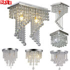 Luxury Chandelier Crystal Glass LED Ceiling Light Fixture Pendant Hanging Lamp