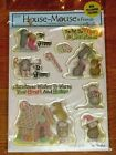 The Paper Studio HOUSE MOUSE  Friends CHRISTMAS Clear Stamps Scrapbooking NEW