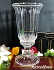 Crystal Cut Glass Hurricane Unknown Maker Shade plus Base Candle Holder