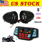 12V Motorcycle Waterproof Audio FM Radio Stereo Bluetooth Speaker For Yamaha